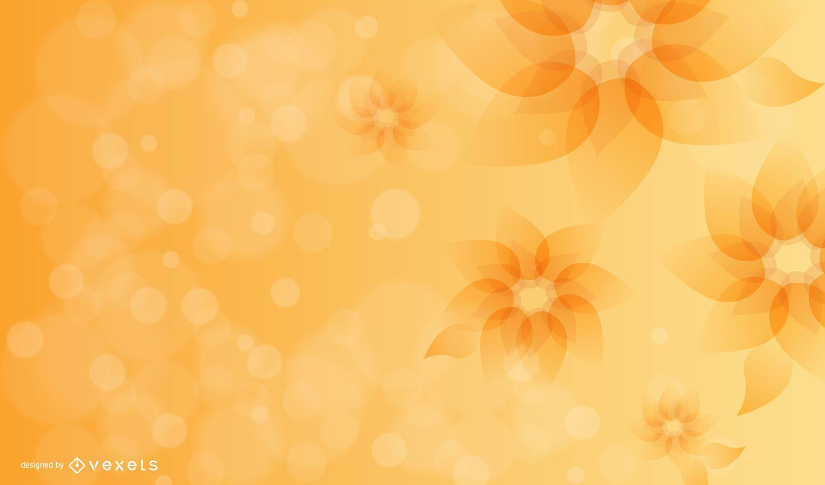 Full Blossom Bright Flower with Bokeh