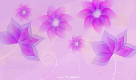 Fluorescent Colorful Abstract Flowers Background