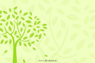 Fondo de árbol de silueta ecológica