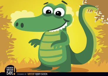 Animal crocodilo na selva