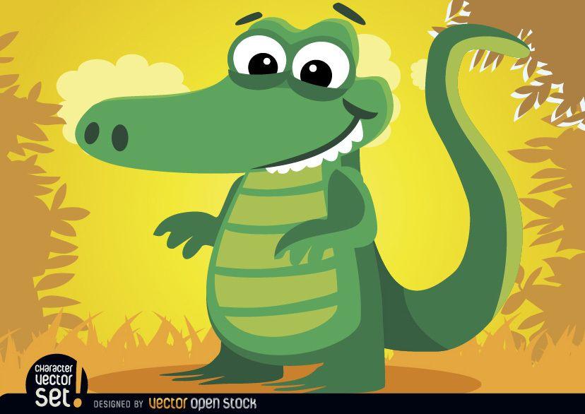 Crocodile animal in jungle