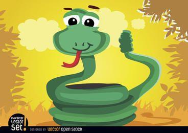 Aufgerolltes Rasselschlangentier