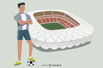 Jugador de fútbol árabe Soudi Yasser Alqahtani