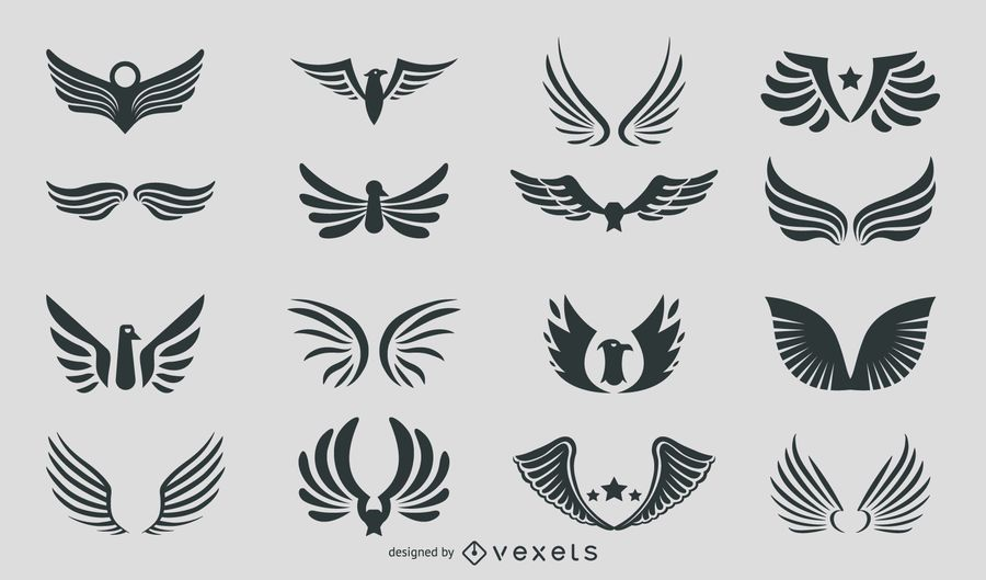 Silhouette Abstract Eagles & Wings Pack