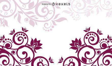 Classic Swirling Floral com curvas de meio-tom