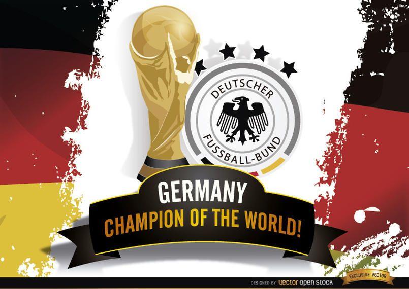 Campeón de Alemania de Brasil Copa del Mundo 2014