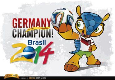 Campeón de Alemania Mascot Brasil 2014