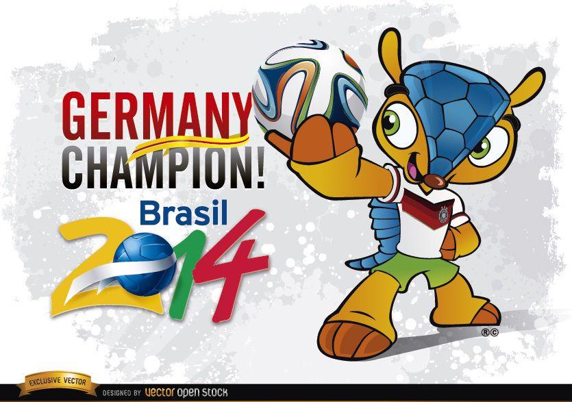 Germany Champion Mascot Brazil 2014