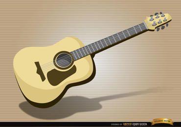 Instrumento musical de guitarra acústica.