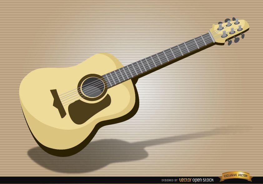 Instrumento musical de guitarra acústica