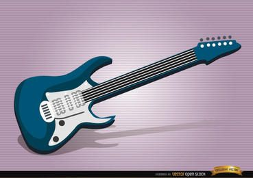 Instrumento musical de guitarra eléctrica.