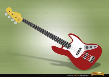 Bass guitar musical instrument