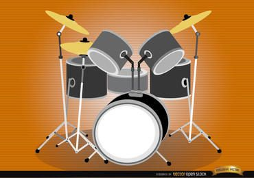 Drum Set instrumento musical