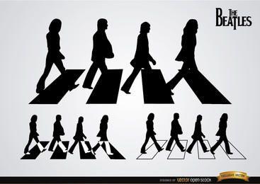 As silhuetas dos Beatles Abbey Road