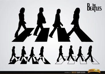 Las siluetas de Beatles Abbey Road