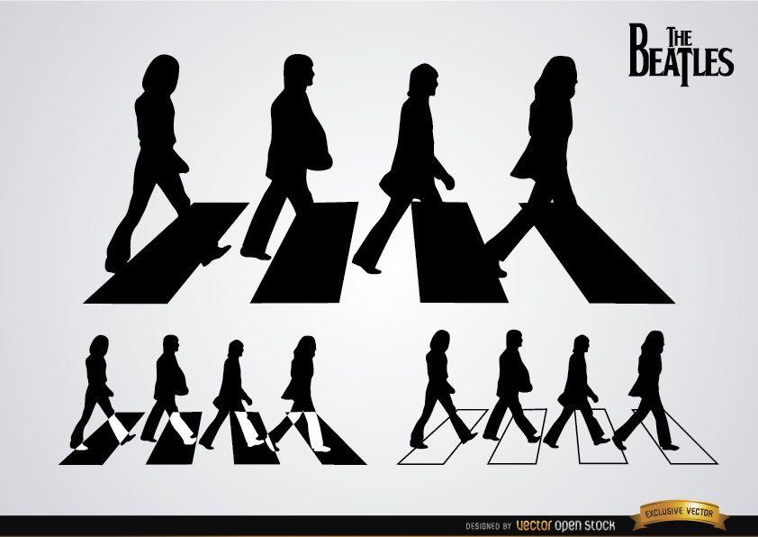 Las siluetas de los Beatles Abbey Road