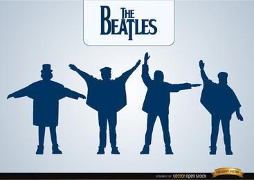 As silhuetas de ajuda dos Beatles