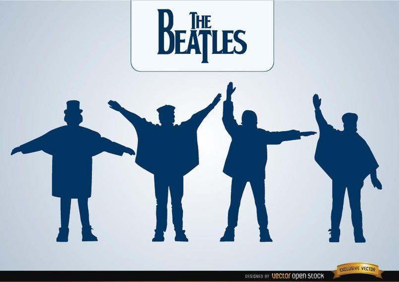Las siluetas de ayuda de los Beatles.