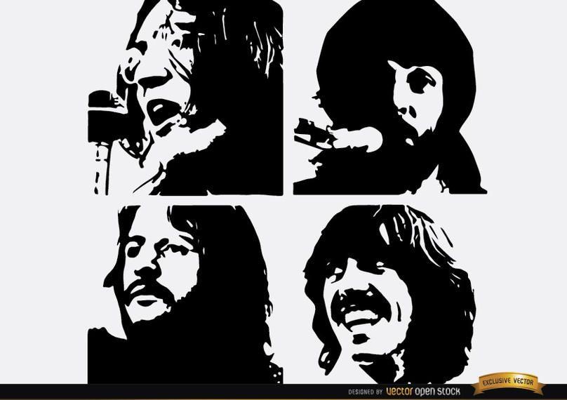 Los Beatles dejen que sean siluetas.