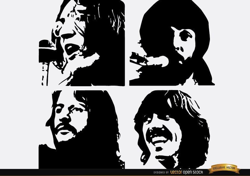 Los Beatles Let It Be siluetas