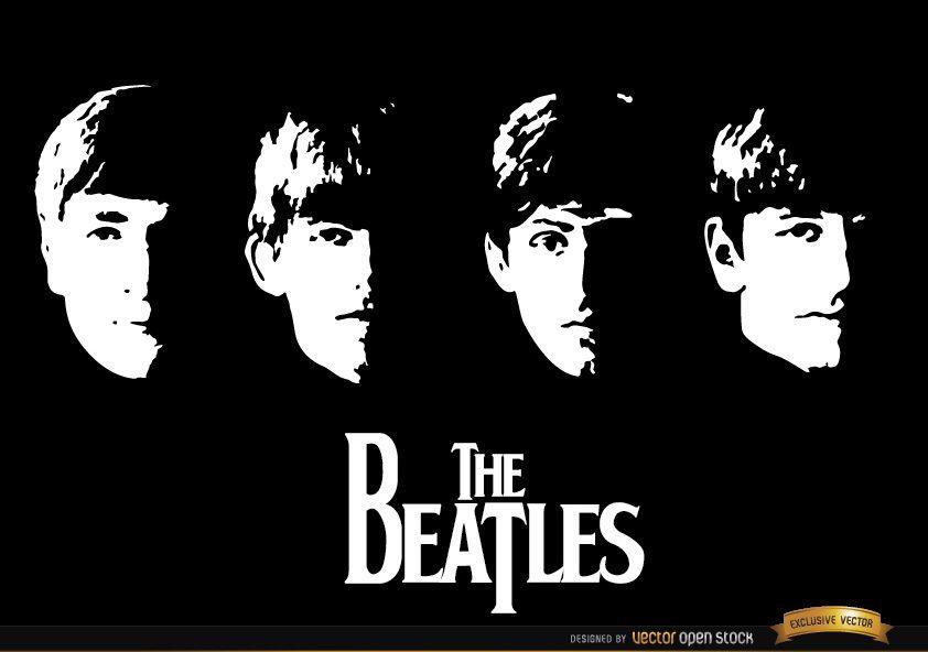 Com papel de parede do álbum dos Beatles