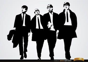 O papel de parede da banda dos Beatles