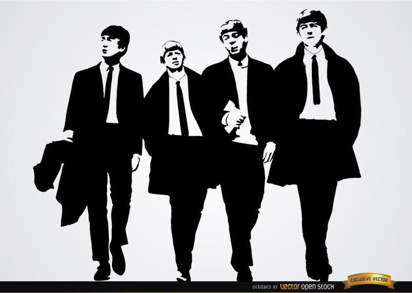 Fondo de pantalla de la banda de los Beatles