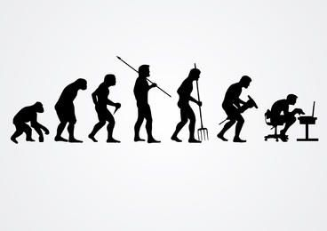 Evolution of human work silhouettes