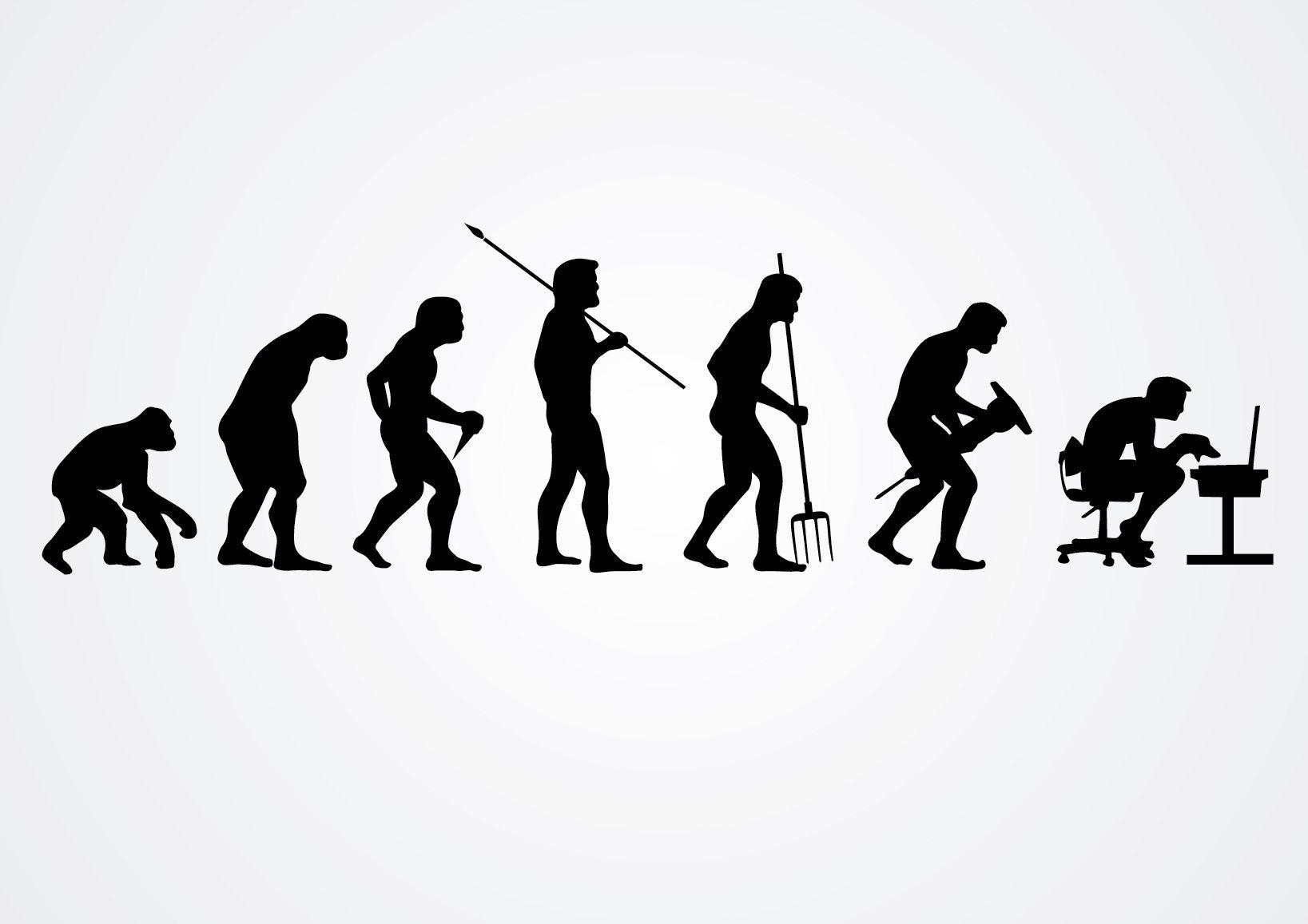 Evolución de las siluetas del trabajo humano