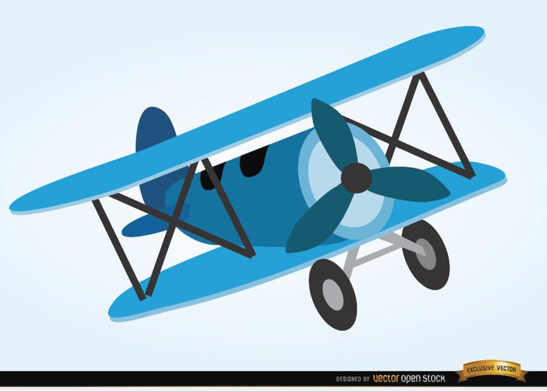 Airplane toy cartoon style