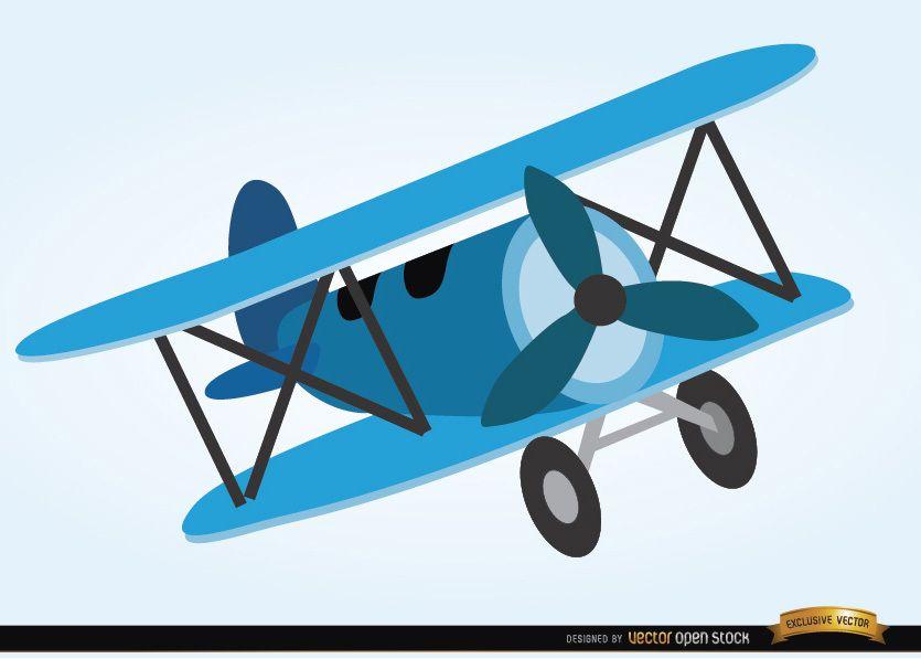 Avião brinquedo estilo cartoon