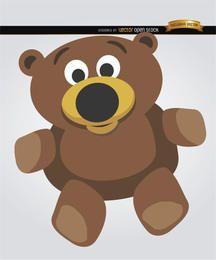 De dibujos animados oso de peluche