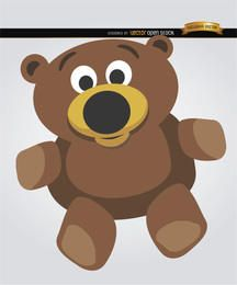 Dibujos animados de oso de peluche