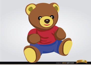 Juguete del bebé del oso de peluche