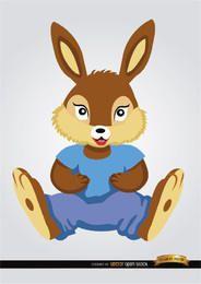 Boneca de desenhos animados de esquilo de pelúcia