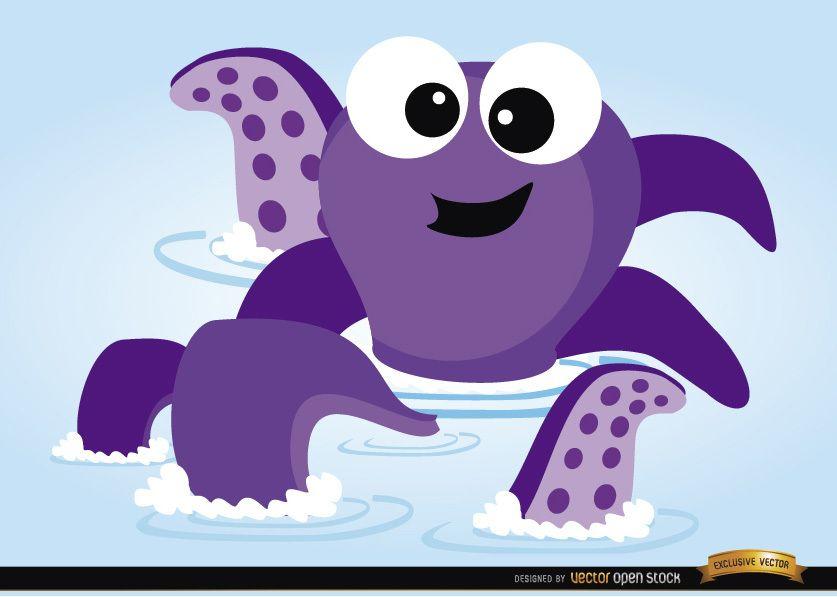 Octopus bathtub toy