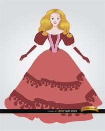 Boneca com vestido elegante
