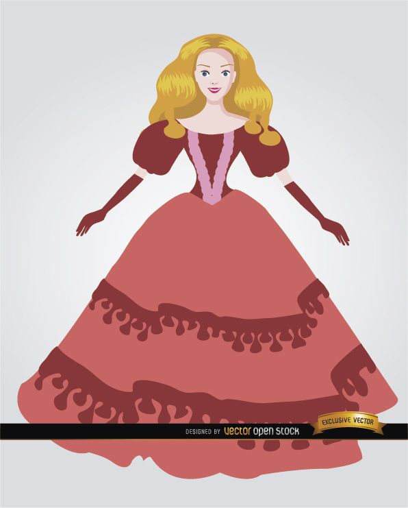 Doll with elegant dress