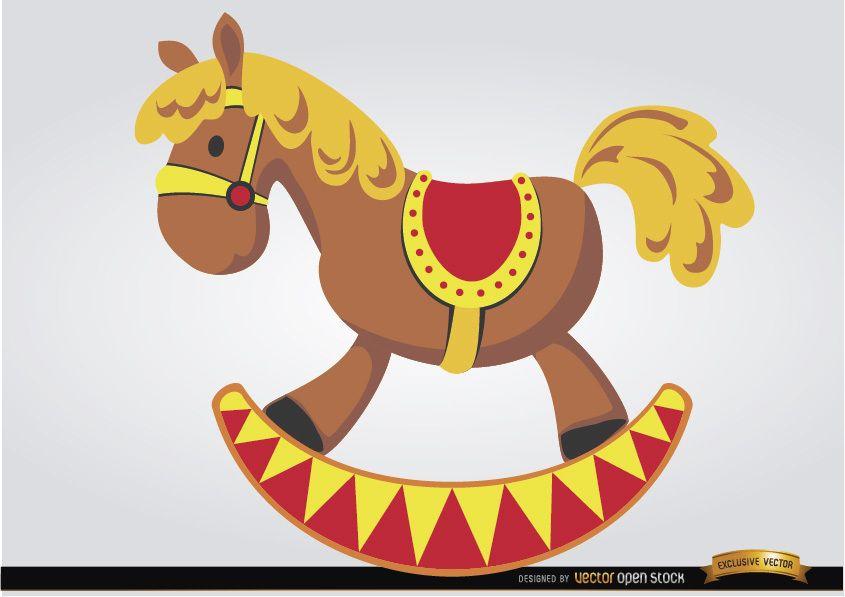 Wooden horse children toy