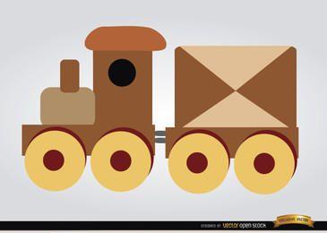 Brinquedo infantil de trem de madeira