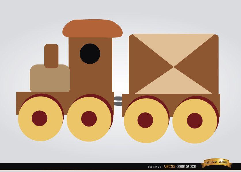 Wooden train children toy