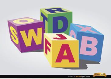 Cubos de brinquedo para crianças
