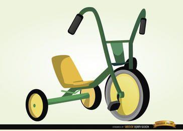 Dibujos animados de niños en bicicleta