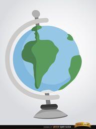 Globo terrestre de terra dos desenhos animados