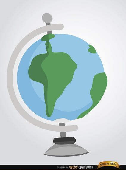 Desenhos animados do globo da terra do Desktop