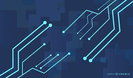 Dynamische blaue Glühen-Technologie-Linie Hintergrund