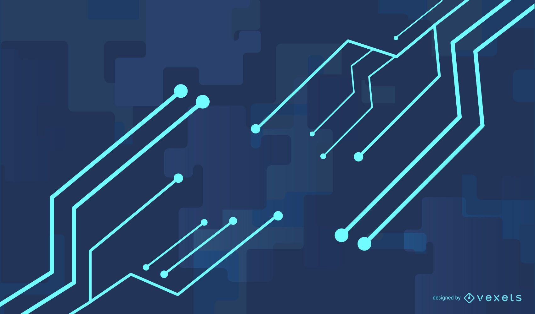 Dynamic Blue Glow Tech Line Background
