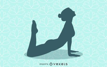 Ausgezogenes Mädchen-Yoga-Schattenbild