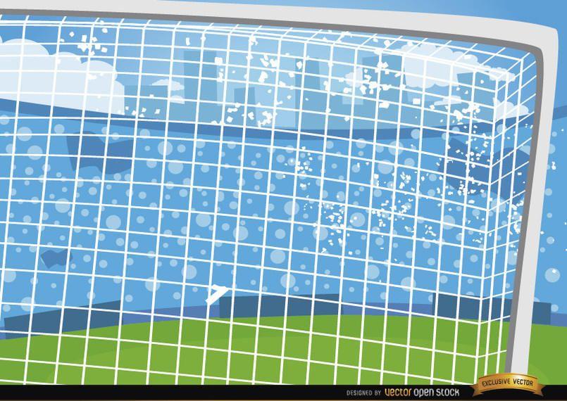 Football goalposts cartoon background