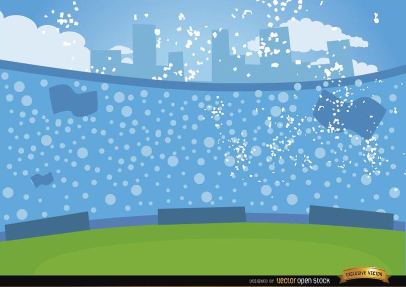 Football crowds in bleachers